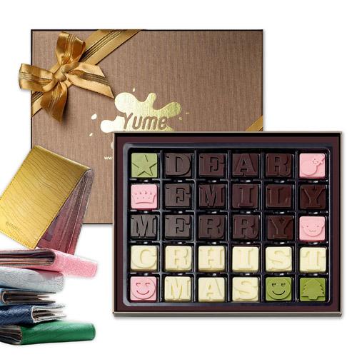 字母巧克力-化作愛神邱比特為你倆祈福。
